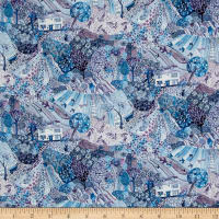 Liberty Fabrics Tana Lawn Royal Oak House Teal