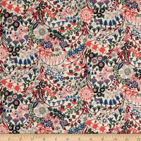 Liberty Fabrics Tana Lawn Mary Mary Pink/Blue/Green
