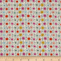 Liberty Fabrics Tana Lawn Happy Bloom Purple/Red/Yellow
