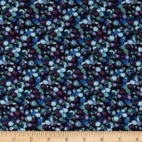 Liberty Fabrics Jersey Knit Winter Berry Blue/Purple