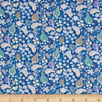 Liberty Fabrics Stretch Jersey Knit Fruitful Blue/Multi