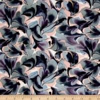 Liberty Fabrics Jersey Knit Ebru Purple/Pink/Blue