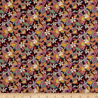 Liberty Fabrics Tana Lawn Lemon Flowers Multi