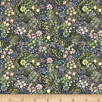 Liberty Fabrics Tana Lawn Elderberry Blue/Yellow/Pink