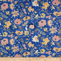 Liberty Fabrics Tana Lawn Winter Floral Blue/Yellow/Pink