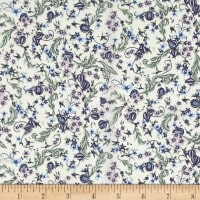 Liberty Fabrics Tana Lawn Pomegranate Paradise Blue/Purple/Green