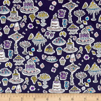 Liberty Fabrics Tana Lawn High Tea Blue/Multi