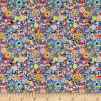 Liberty Fabrics Tana Lawn Sugar Rush Blue/Multi
