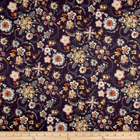 Liberty Fabrics Tana Lawn Synchronised Dinner Navy Blue/Pink