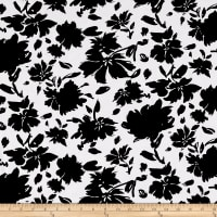 ITY Knit Floral Bloom Black/White
