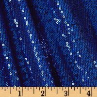 Mini Sequin Mesh Cobalt