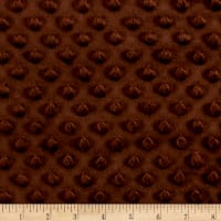 Minky Plush Dot Brown