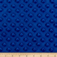 Minky Plush Dot Royal Blue