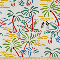 Clarence House Palm Beach 100% Linen Multi