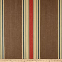 Clarence House Pembridge Stripe Basketweave Brown