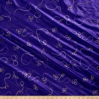 Embroidered Sequin Taffeta Purple
