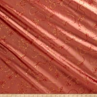 Embroidered Sequin Taffeta Orange