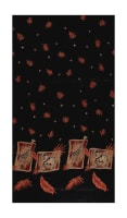 Crepe De Chine Giraffe Safari Single Border Black/Brown