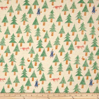 Kokka Sakkkaz Woods Trees Cotton Canvas Muslin
