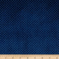 Velvet Basketweave Navy