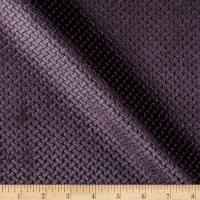 Jacquard Velvet Basketweave Grape