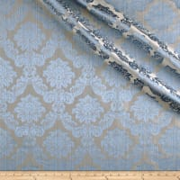 Europatex Dashing Damask Jacquard Aqua