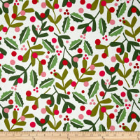 Alexander Henry Christmas Time Merry Mistletoe Natural