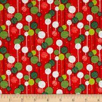 Alexander Henry Christmas Time Kristmas on a String Red