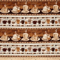 "Timeless Treasures Cafe Au Lait 11"" Coffee Stripe Coffee"