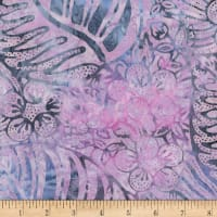 Timeless Treasures Tonga Mystical Batik Tropical Leaf Study Mauve