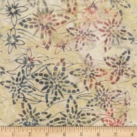 Timeless Treasures Tonga Antique Garage Batik Blossoming Stone