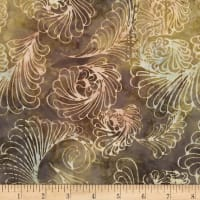 Timeless Treasures Tonga Antique Garage Batik Feathers Antique