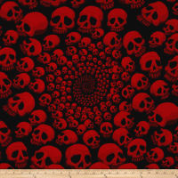 Alexander Henry The AH Vault Skullfinity Black/Red