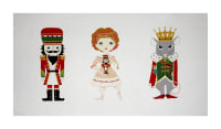 "Alexander Henry Christmas Time Nutcracker 24"" Panel Red Metallic"