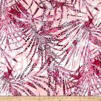 Italian Digital Tropical Leopard Viscose Jersey Knit Pink/Black/Off White