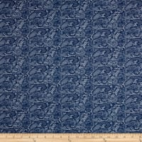 Italian Lace Jacquard Denim Look Blue/White