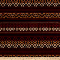 Italian Metallic Wool Blend Jacquard Red/Brown/Navy/Mustard/Gold
