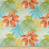 Swavelle Indoor/Outdoor Whistling Leaves Aquamarine
