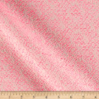 Woven Puffs Suiting Hot Pink/Off White