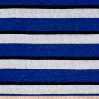 Sweater Knit BurnoutStripe Royal/White