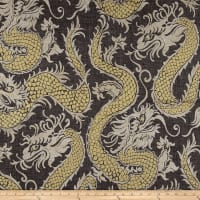 Waverly Good Fortune Noir Linen