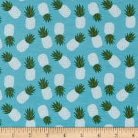 Riley Blake Havana Pineapple Jersey Knit Teal