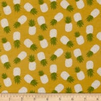 Riley Blake Havana Pineapple Jersey Knit Yellow