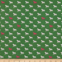 Derby Horses Green In Stretch Knit