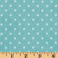 Riley Blake Flannel Basics Swiss Dot Aqua