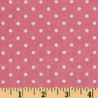 Riley Blake Flannel Basics Swiss Dot Hot Pink