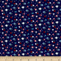 Riley Blake A Little Sweetness Floral Navy