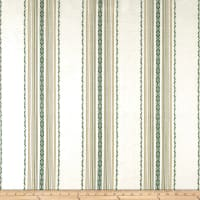 Laura & Kiran Ibiza Stripe Canvas Green/White