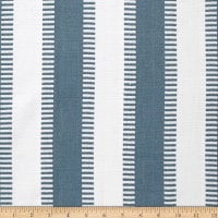 Laura & Kiran New Ladder Stripe Canvas Lake/White