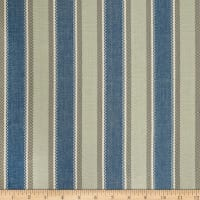 Laura & Kiran Valencia Stripe Canvas Blue/Aqua